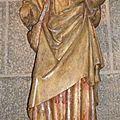 Satut de St Jacques dans la cathédrale du Puy