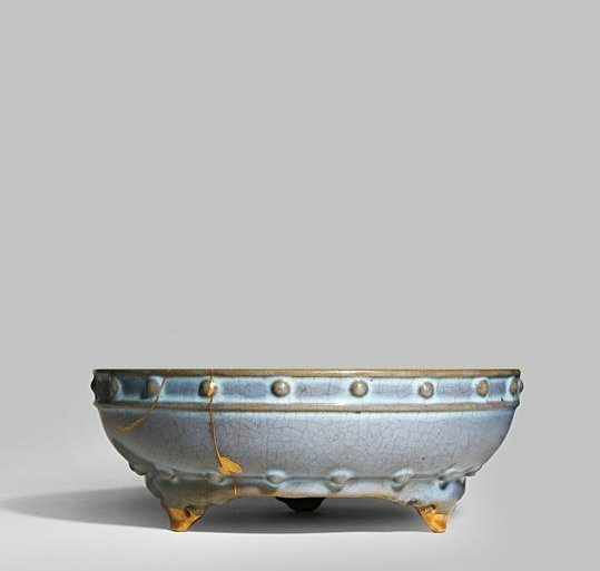 A rare Chinese imperial junyao numbered 'narcissus' bowl, Yuan-Early Ming dynasty