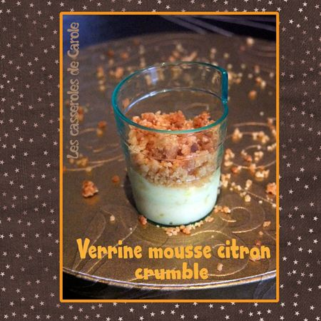 Verrine mousse citron crumble (scrap)