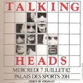 Talking heads - mercredi 7 juillet 1982 - palais des sports, paris