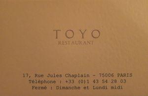 Toyo Carte de visite J&W