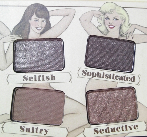 Nude'tude the balm palette princesse affreuse swatches (9)