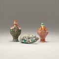 Three snuffbottles, China, Jingdezhen, 1780-1850