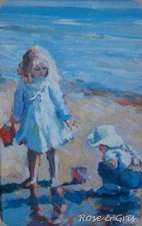 carte enfants sur la plage