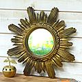 Décoration ... miroir soleil * anna