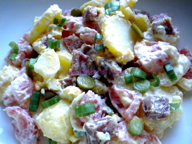 Salade de pommes de terre au saucisson 4