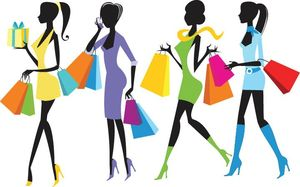 Fashion-Shopping-Girls-Illustration