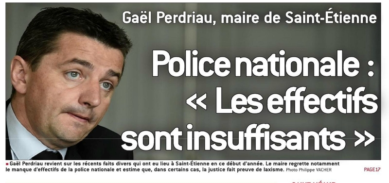 gael perdriau saint etienne stéphanois police racaille justice laxiste