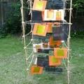Papiers et transparents sur bambous