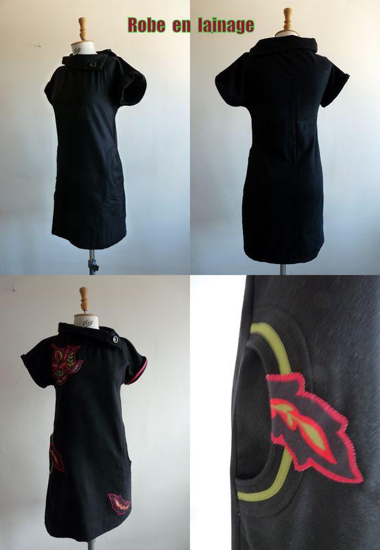 robe lainage noir