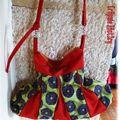 sac pli-pli boheme fleurs et couleur brique