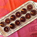 Tartelettes au chocolat et à l'orange parfumées au cointreau