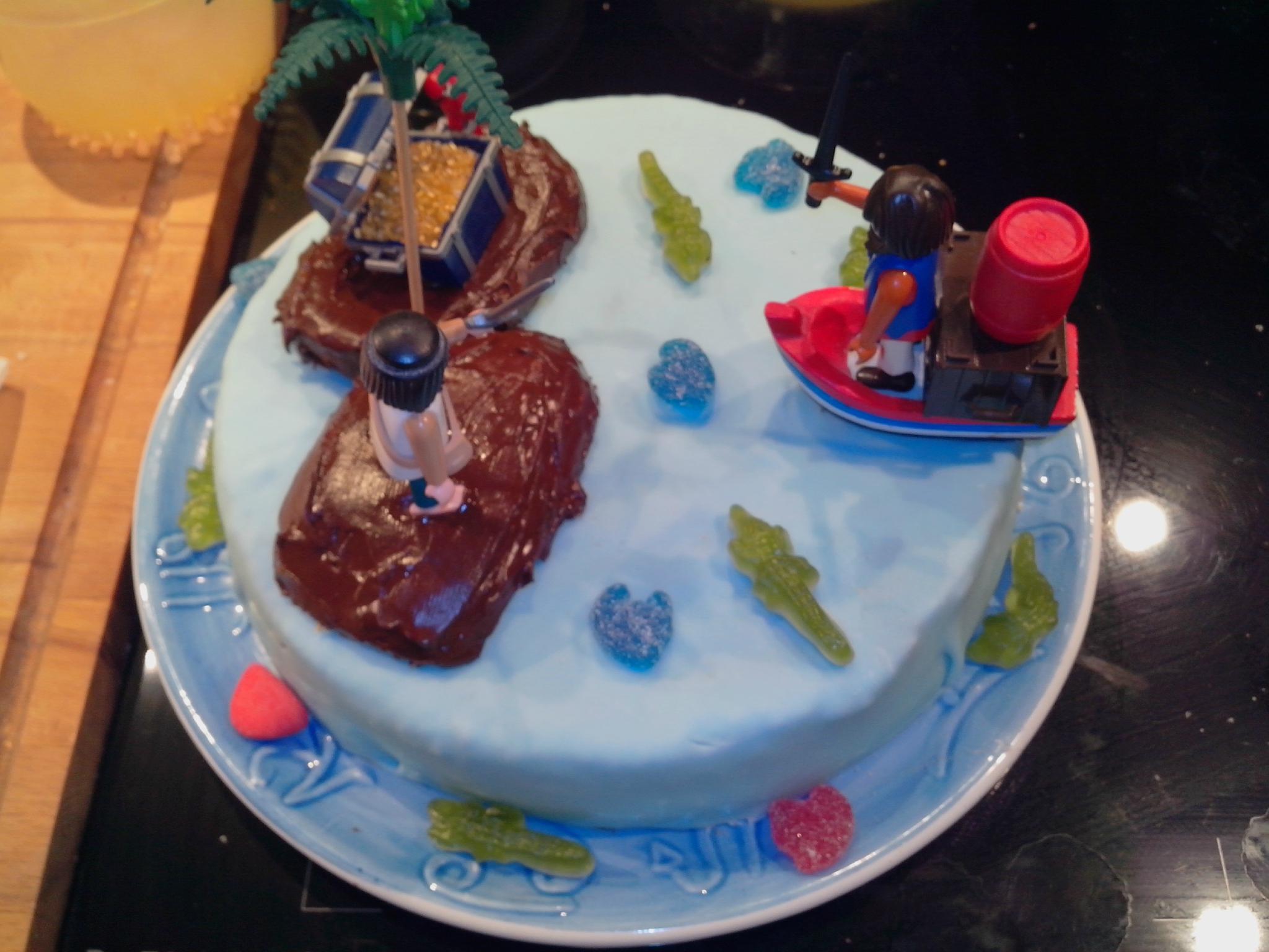 Gâteau pirates (utilisation de la pâte à sucre)