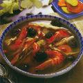 Crevettes au vin de riz