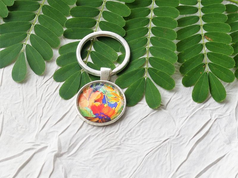 bijoux colores made in guyane par louise indigo fleurs orange (1)