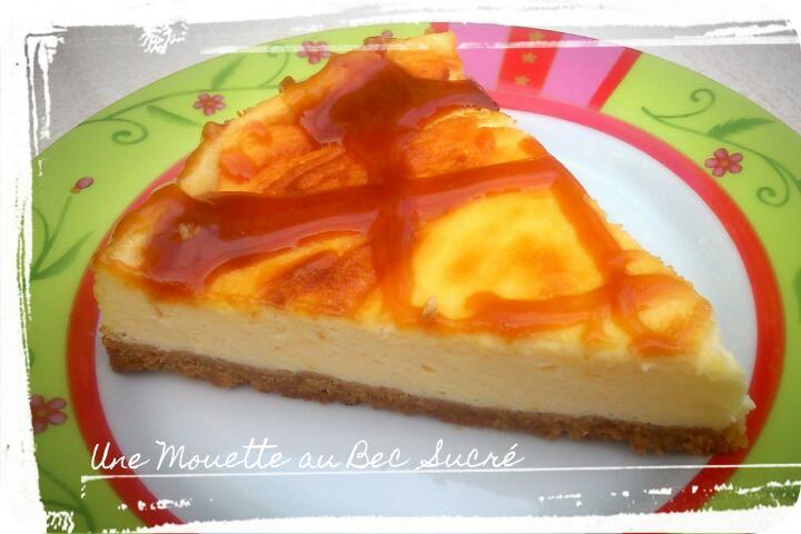 Cheesecake, coulis Caramel au beurre salé