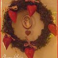 Une couronne de coeurs pour la st valentin