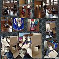 Ludothèque et cabane en carton