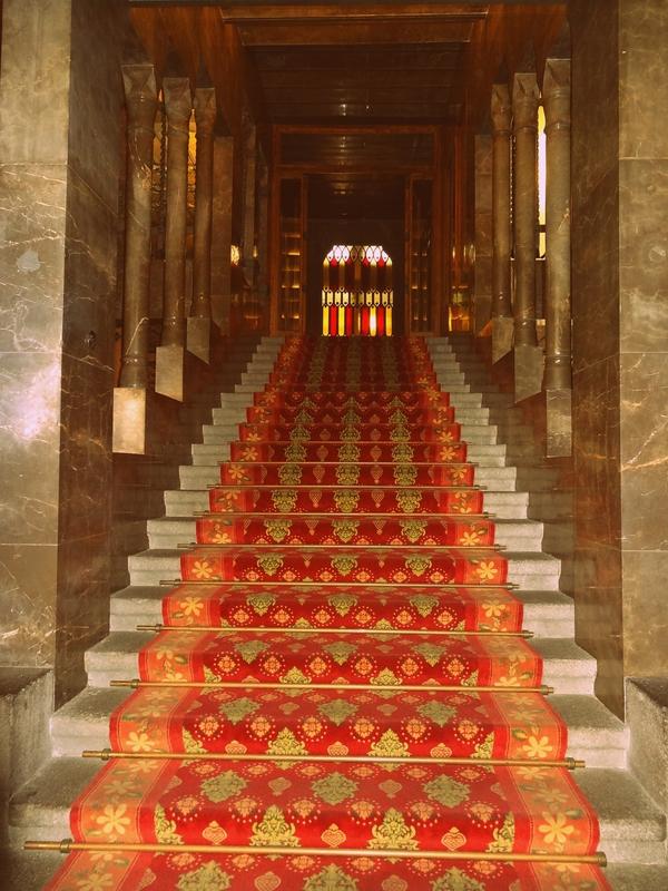 Palau Güell - escalier pour l'accès à l'étage noble