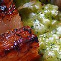Celle qui n'en avait pas plein les bask du pays basque: poitrine de porc à la basque, risotto au beurre d'escargot