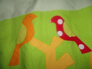 rideau détail oiseaux 2