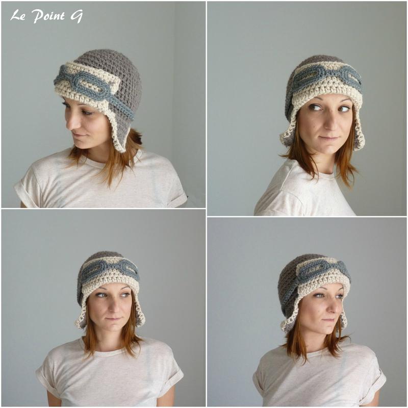 Bonnet Aviateurau crochet