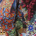 Robe Raymonde en coton imprimé Madone - manches courtes - longueur genoux - manches raglan - taille unique (7)