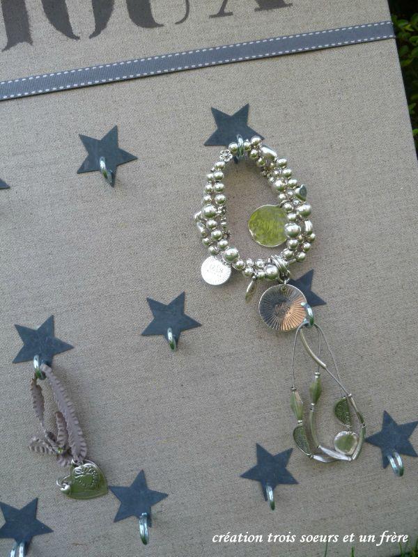 le porte-bijoux étoiles zinc