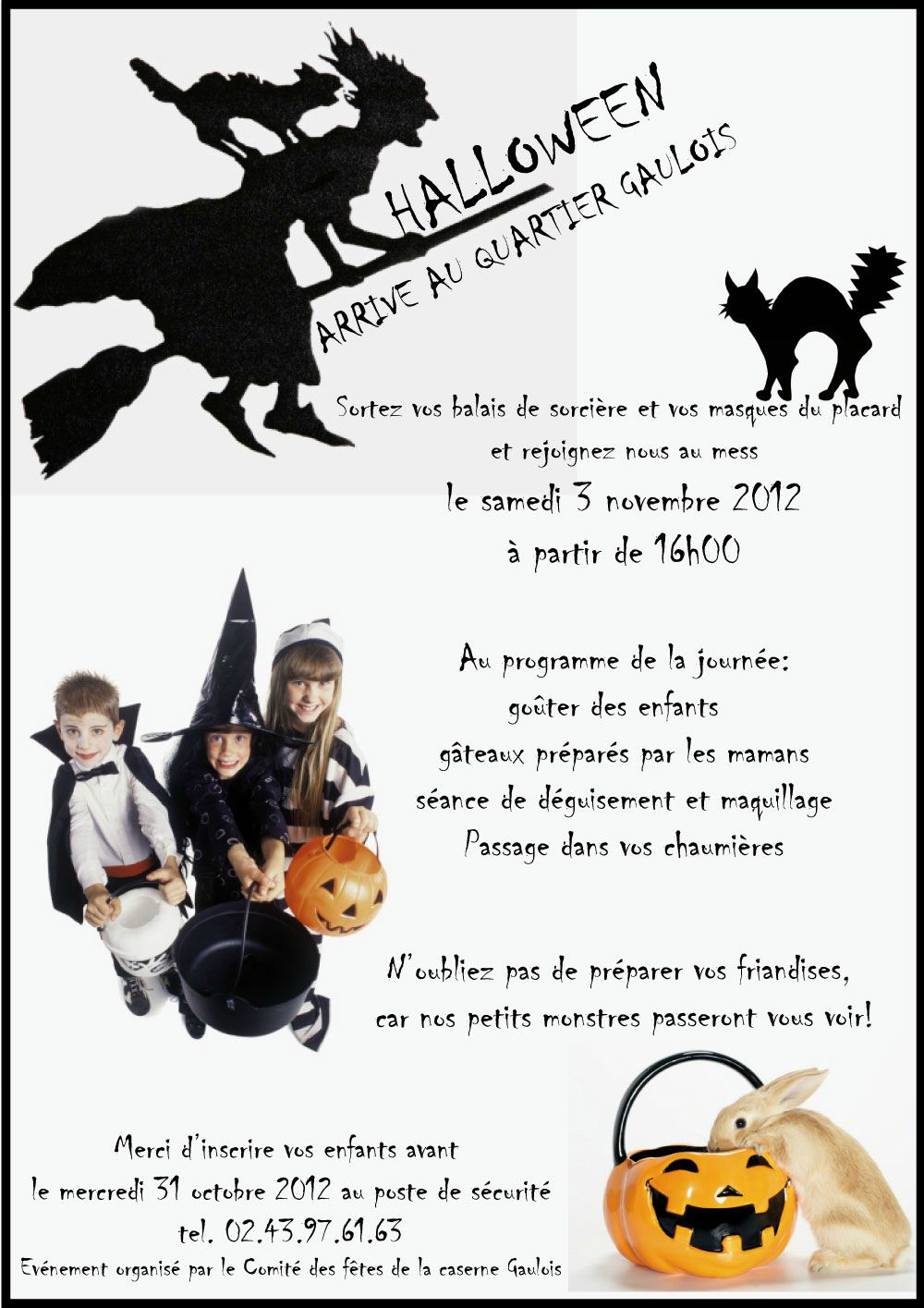 halloween pour les enfants samedi 3 novembre 2012 comit des f tes caserne gaulois. Black Bedroom Furniture Sets. Home Design Ideas