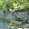 Fontaine et source de