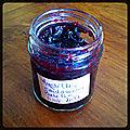 Confiture myrtilles basilic cardamome