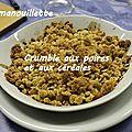 Crumble aux poires et aux céréales