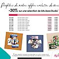 Promo : 30% sur une sélection de kit azza studio