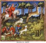 the-deer-hunt-from-le-livre-de-la-chasse-book-of-the-hunt-of-gaston-d962pw