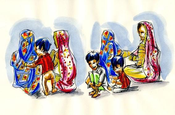 Famille de Jaipur (Inde)