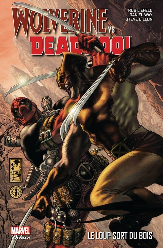 marvel deluxe wolverine vs deadpool le loup sort du bois