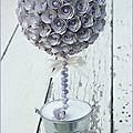 Tuto / diy topiaire ou boule de fleur