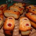 Mini-cakes framboises et chocolat blanc