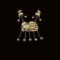 Un pendentif en métal doré en forme de chimère, chine, xixe siècle