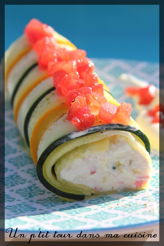 Rouleau courgettes crabe
