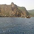 La côte de Tabarka - depuis le bateau