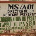 Dans le même ensemble que la Direction régionale de la santé à Bobo, nous sommes tombées sur l'ancien bureau de l'AOI!