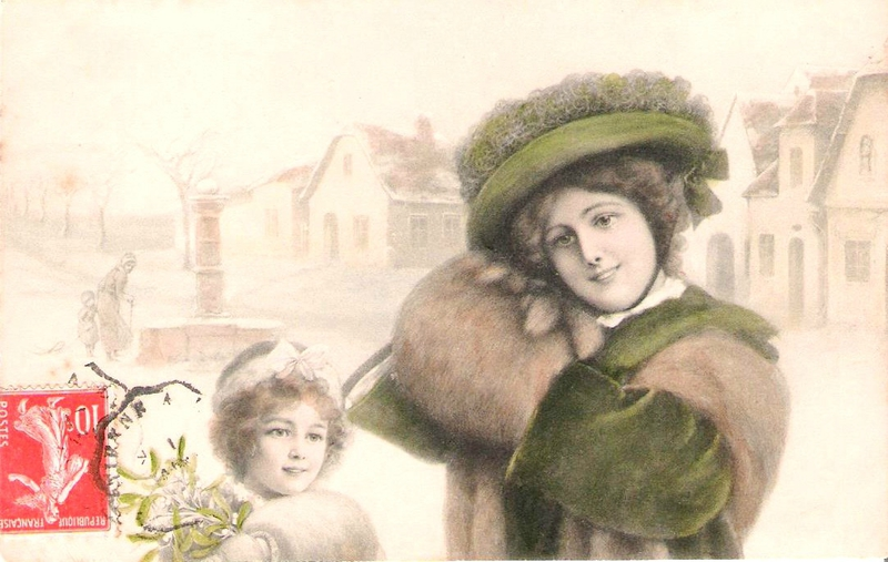 Carte Bonne année 12 janvier 1909