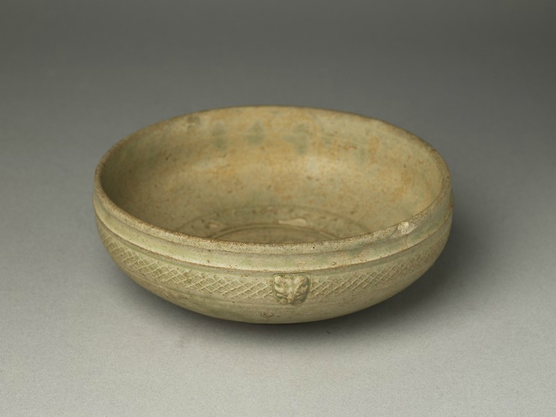 Greenware bowl with animal masks, 4th century AD, Western Jin Dynasty (AD 265 - 316) - Eastern Jin Dynasty (AD 317 - 420) - Six Dynasties Period (AD 221 - 589)