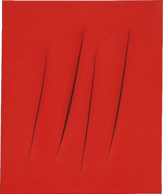 Lucio Fontana, Concetto spaziale, Attese, signed, titled and inscribed