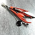 porte clefs orange noir pw