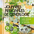 Xxiè journées régionales de généalogie à montélimar