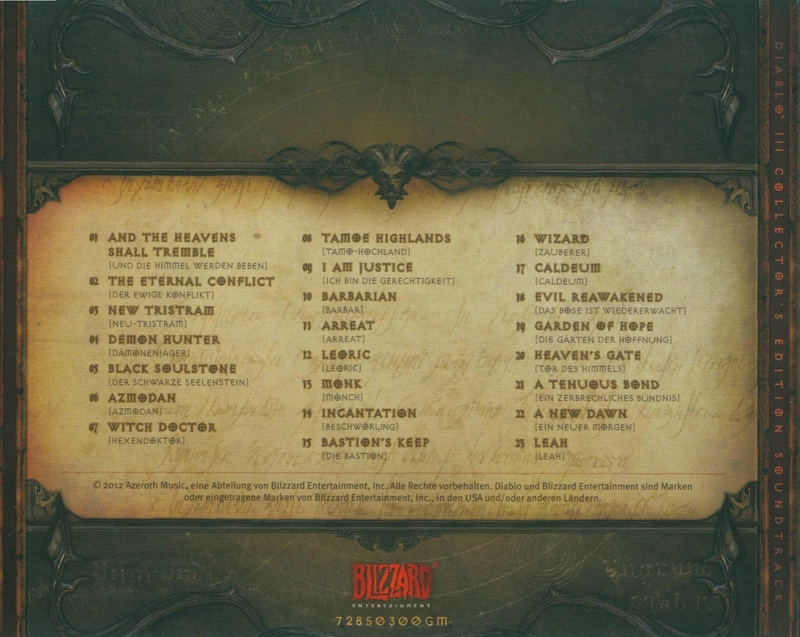 Diablo 3 (Soundtrack) (Collector´s Edition) - 5) Back