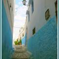 Ruelle bleue Rabat