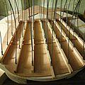 La fabrication d'une mandole : pressoirs avec des rayons de roue de vélo